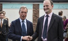 Nigel Farage and Douglas Carswell in Clacton-on-Sea