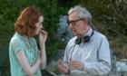 Woody retire? Nope. Rachel McAdams and Woody Allen in Magic In The Moonlight.
