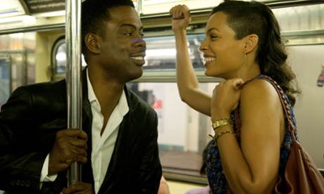 Chris Rock and Rosaria Dawson in Top Five