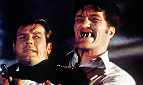 Richard Kiel, right, tussling with Roger Moore as James Bond.