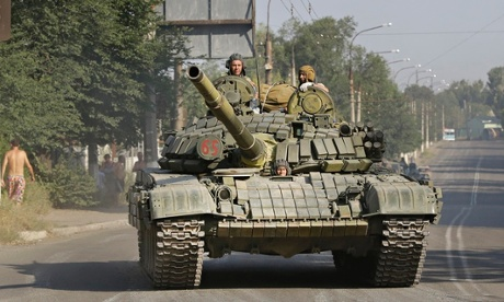 Pro-Russian rebels Krasnodon, eastern Ukraine