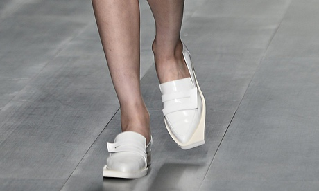 J. JS LEE white loafers
