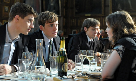 Sam Claflin, Max Irons and Natalie Dormer in The Riot Club.