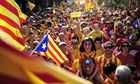 Barcelona independence rally Scotland vote
