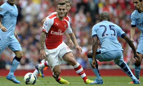 Arsenals Jack Wilshere turns on power but Manchester City refuse to bend