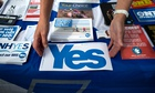 Scottish Referendum yes Campaign hands