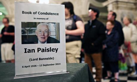 Ian Paisley book of condolence