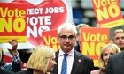 Better Together leader Alistair Darling campaigns in Kilmarnock, Scotland
