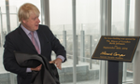 Boris Johnson opens News UK's offices next to the Shard, home to the Times and Sun