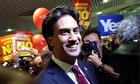 Ed Miliband's Edinburgh walkabout