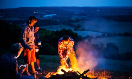 Bivvy camping at the top of Campsie Fells
