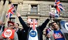 Pro-union activists rally opposite of pr