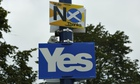 Yes and no signs in SCotland ahead of the independence referendum