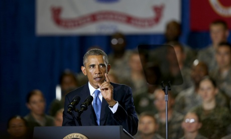 Barack Obama at Central Command.