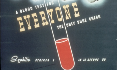Detail from a poster warning about syphilis from the early 1940s.