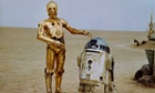 Robot love ... Anthony Daniels as C-3P0 (left) next to R2-D2 (played by Kenny Baker)