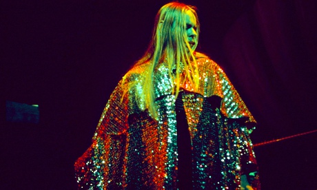 Rick Wakeman in colourful cape