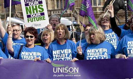 Unison members protest