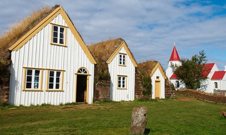 Traditional farm at Glaumbaer, north Iceland
