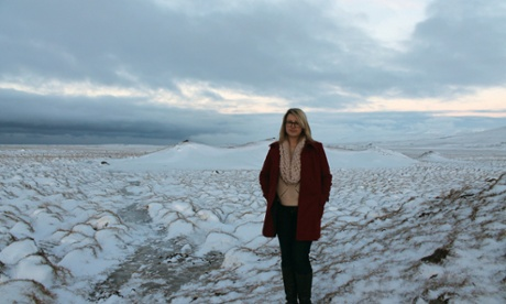 Hannah Kent in Iceland.