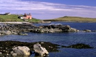 The island of Yell in Shetland, Scotland