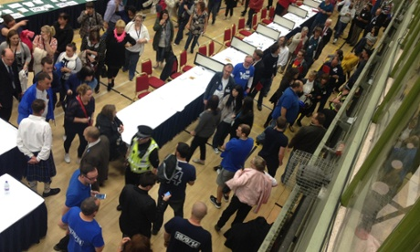 Fire alarm at the Dundee count.