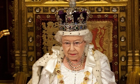 The Queen at the state opening of parliament