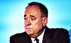 Alex Salmond concedes defeat last night at the Dynamic Earth in Edinburgh