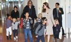 Brad Pitt, Angelina Jolie and their children Maddox, Pax, Zahara, Shiloh, Knox, and Vivienne