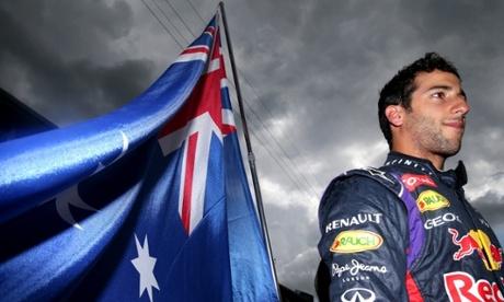 Daniel Ricciardo of Australia and Infiniti Red Bull Racing waiting on the grid before the start.