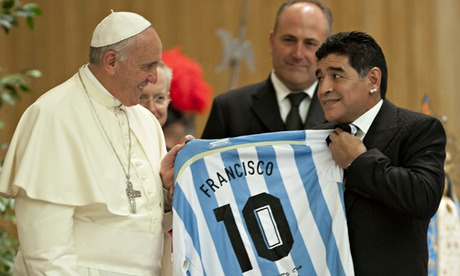 Sport picture of the day: Diego Maradona meets the pope