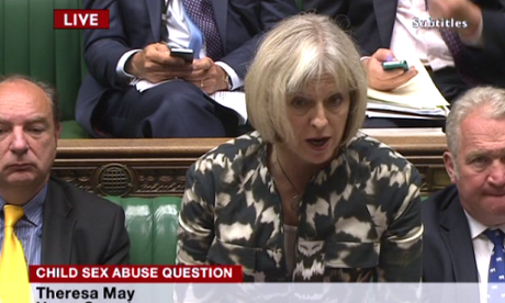 Theresa May making a statement on the Rotherham abuse inquiry