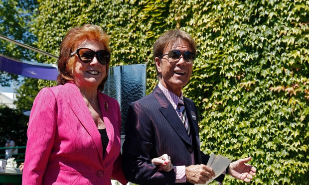 Sir Cliff Richard with Cilla Black earlier this year. MPs are questioning the police and the BBC about the BBC's controversial coverage of a police raid on Richard's home. Richard denies wrong-doing.