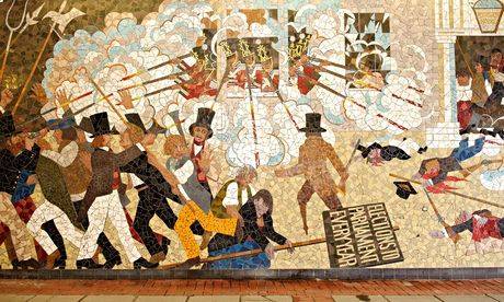 Revolting newport recalling and erasing the city s for Chartist mural newport