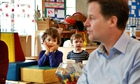 Nick Clegg at Coin Street nursery