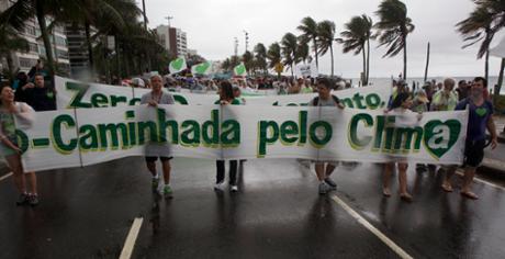 Scenes from Rio march