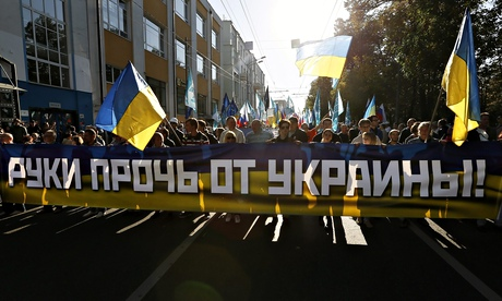 Protest Moscow banner