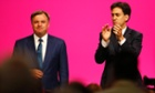 Ed Miliband applauds shadow chancellor Ed Balls