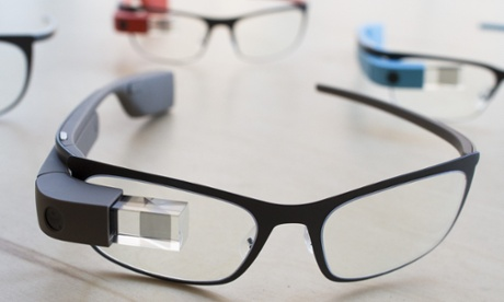 Google Glass ...  you may never have to leave the internet at all. Photograph: John Minchillo/AP