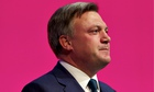 Ed Balls at the Labour party conference