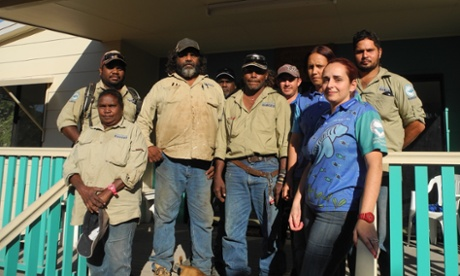 Larissa Hale and some of the Indigenous rangers