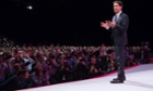 Ed Miliband speaking at the Labour conference in Manchester yesterday
