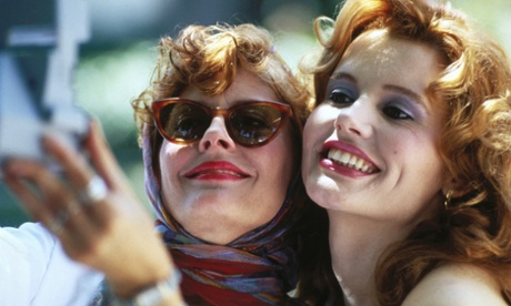 Geena Davis and Susan Sarandon in Thelma and Louise …Davis has unveiled a new report, backed by the UN, which finds wisespread discrimination against women in the global film industry.
