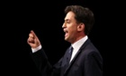 Ed Miliband delivers his keynote speech to delegates at the Labour Party Conference in Manchester.