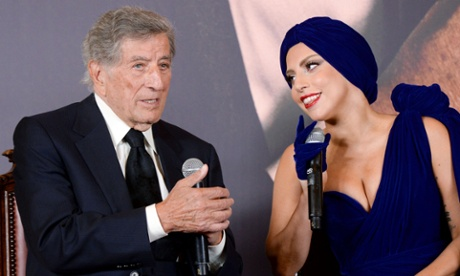 Tony Bennett and Lady Gaga in Brussels.