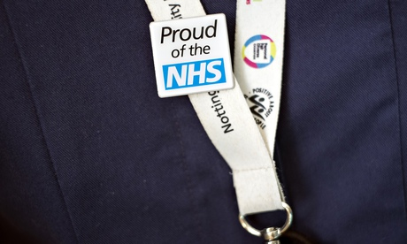 Proud of the NHS badge