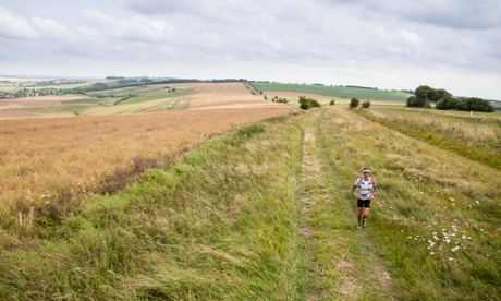 Keep on running: over the centuries the Ridgeway has been followed by soldiers, traders, herders and now joggers and walkers.