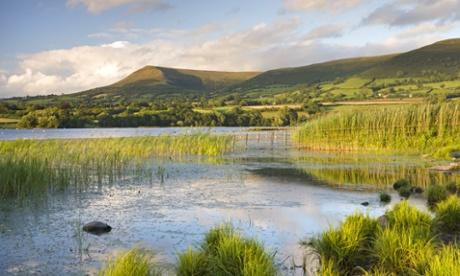Llangorse Lake, Brecon Beacons National Park, Powys, Wales