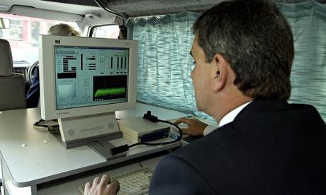 Inside a TV Licensing van