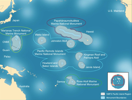 Pacific Remote Islands Marine National Monument map